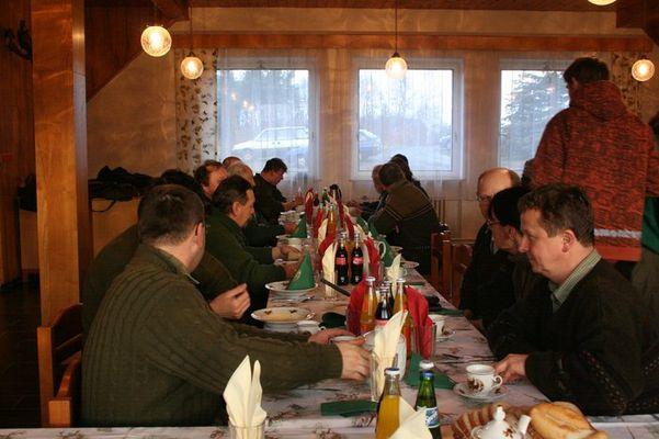 bažantnice31.1.08 009 - den začal vydatnou snídaní