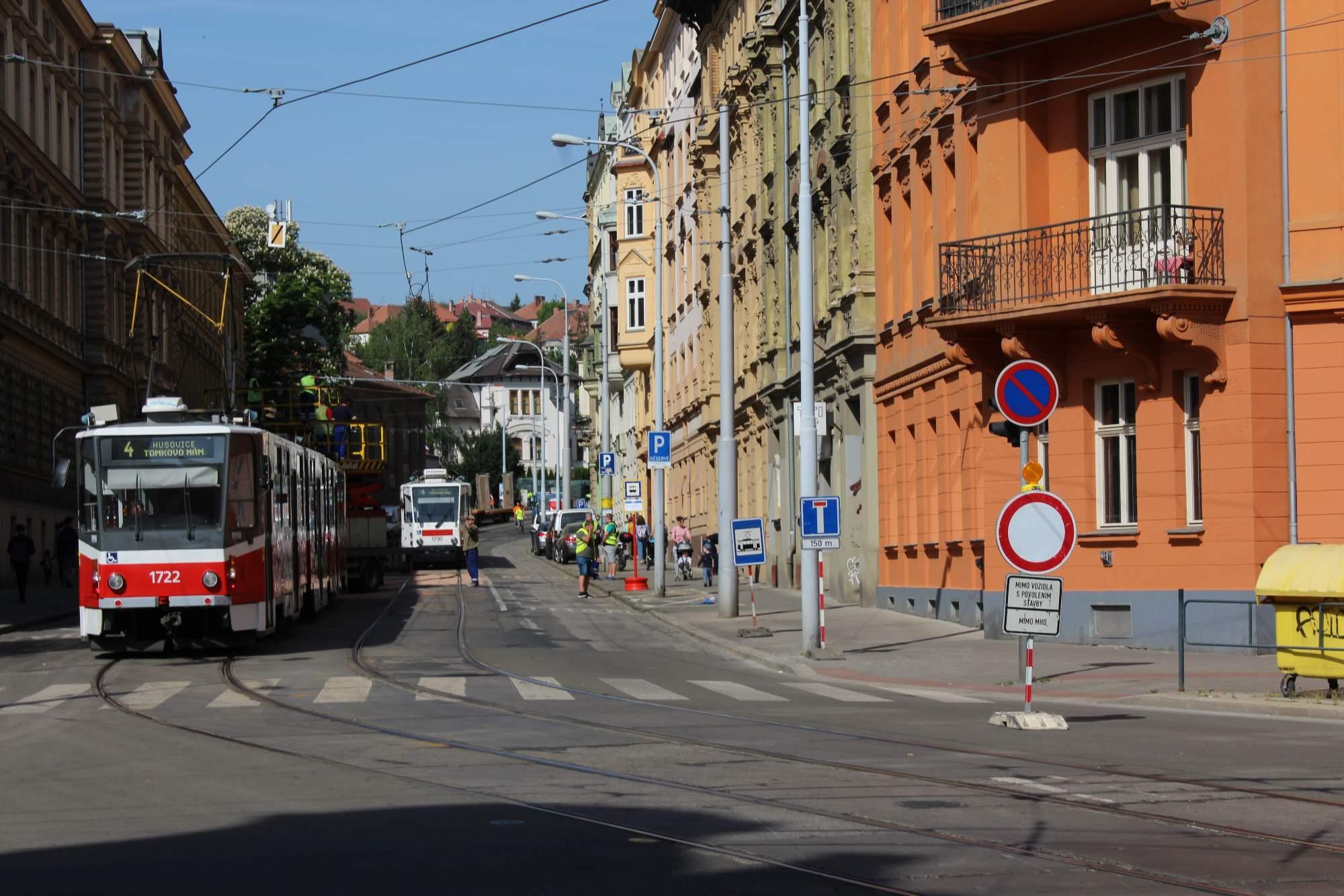 Oprava ulice Údolní potrvá nejméně jeden rok. Foto: Rudolf Požár