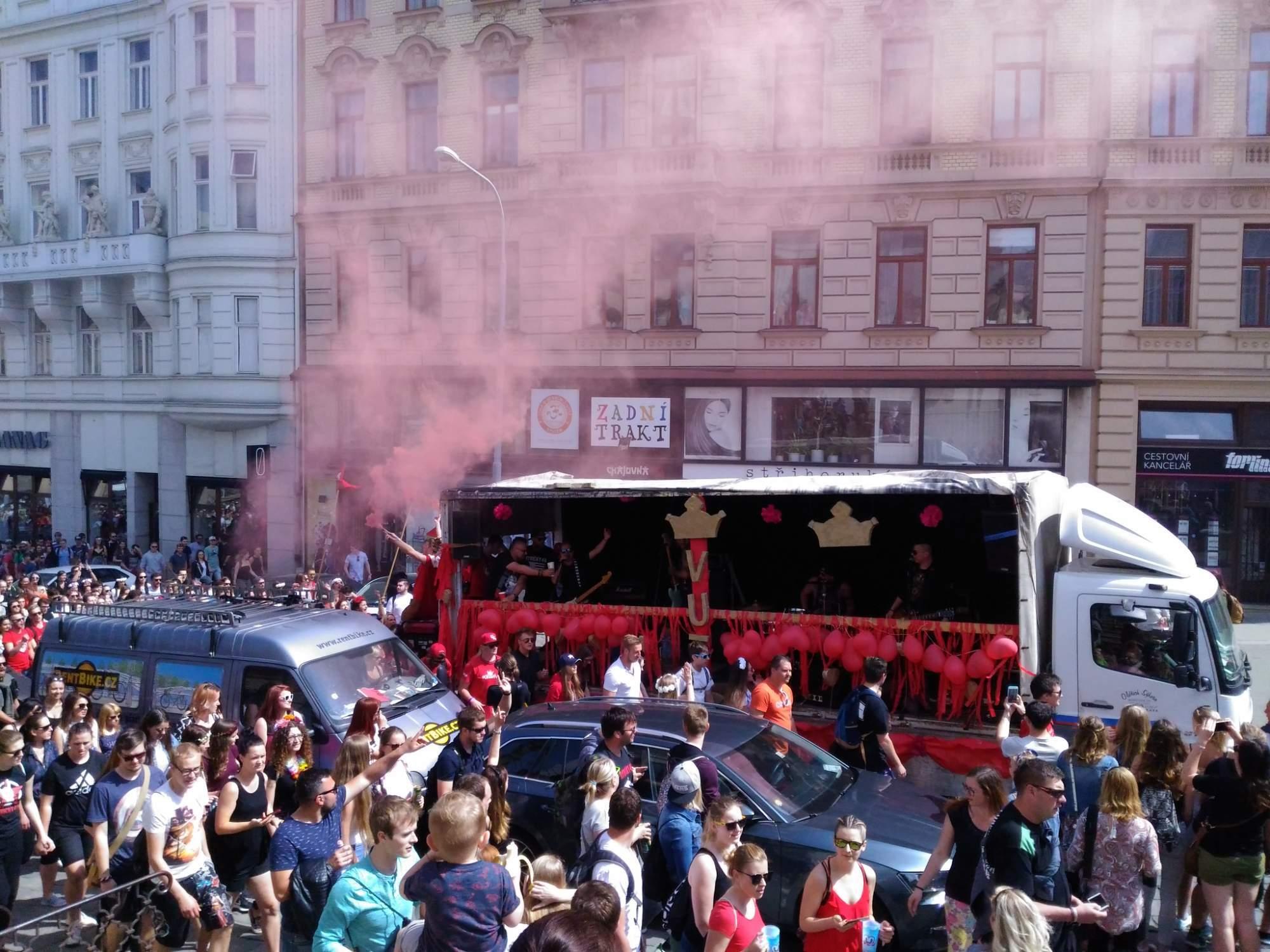 Majáles parade in Brno photo: Rudolf Požár