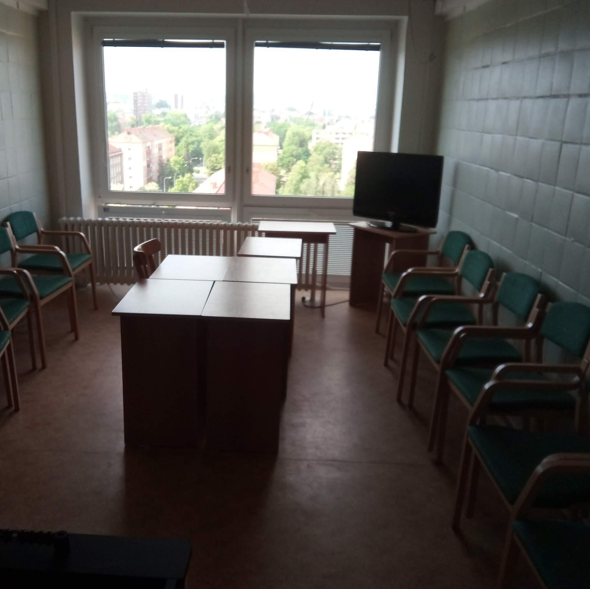 TV místnost koleje Kounicova