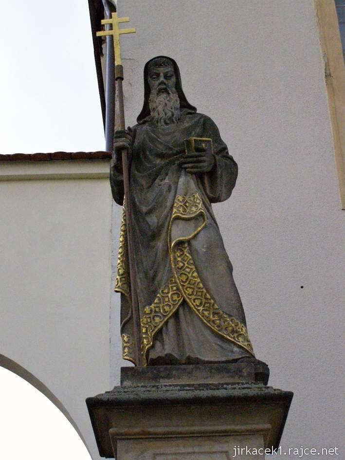 Kyjov - klášter kapucínů s kostelem Nanebevzetí Panny Marie a sv. Cyrila a Metoděje - socha sv. Cyrila z roku 1885