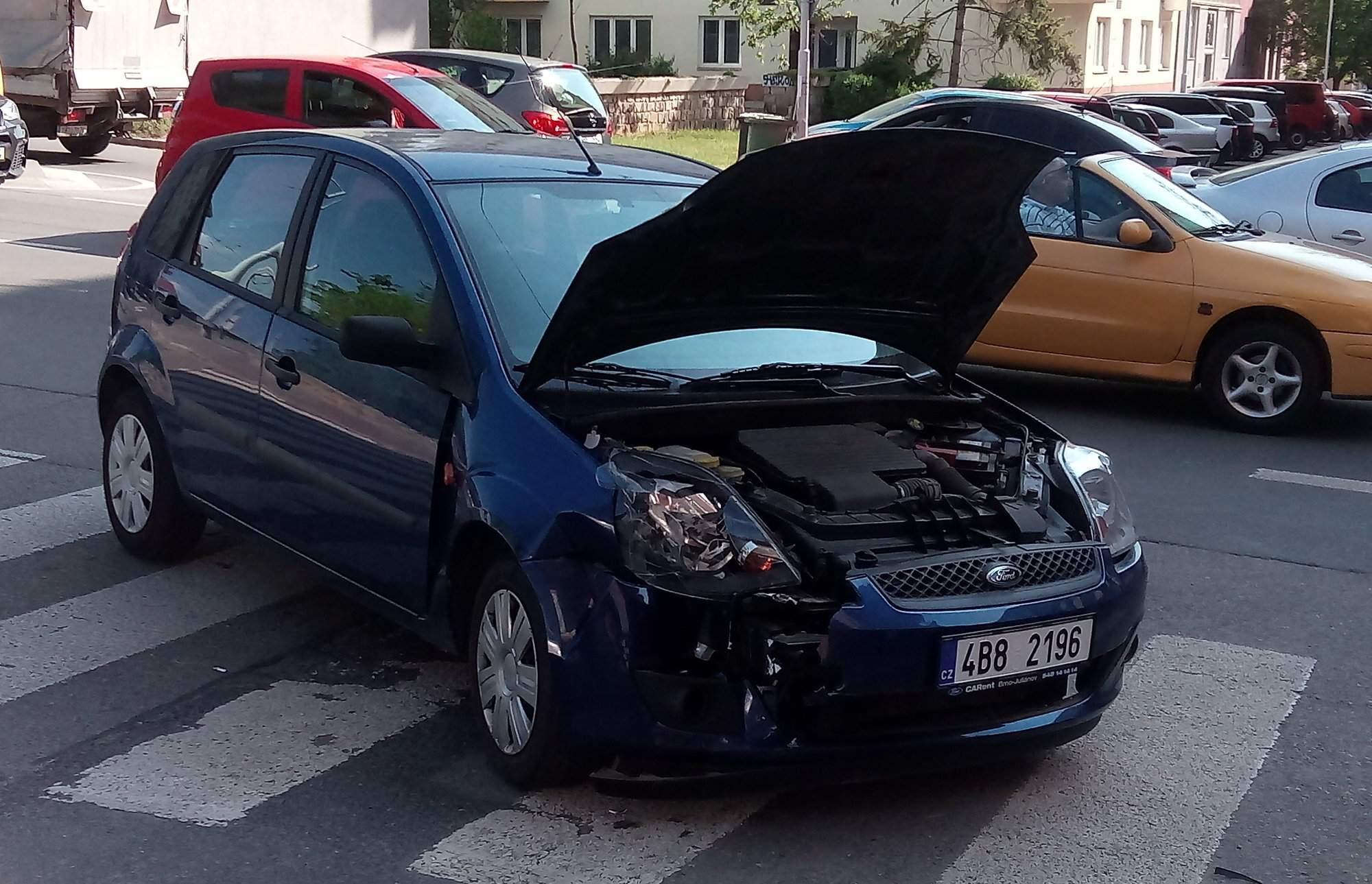 Dopravní nehoda na ulici Grohova
