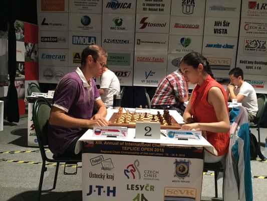 3. round. GM Demchenko - IM Saduakassova.