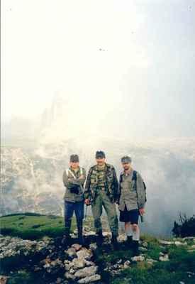 1998 - Na Monte Pianu v Dolomitech - Vojáci c.k. řadový pěší pluk č. 18 Hradec Králové internetová adresa: http://hradec.1866.cz/