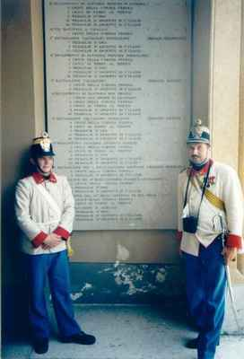 1998 - San Martino - Vojáci c.k. řadový pěší pluk č. 18 Hradec Králové internetová adresa: http://hradec.1866.cz/