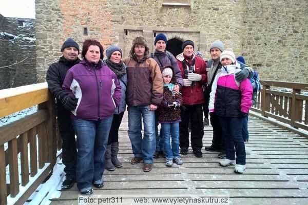 Společné foto na hradě Helfštýn