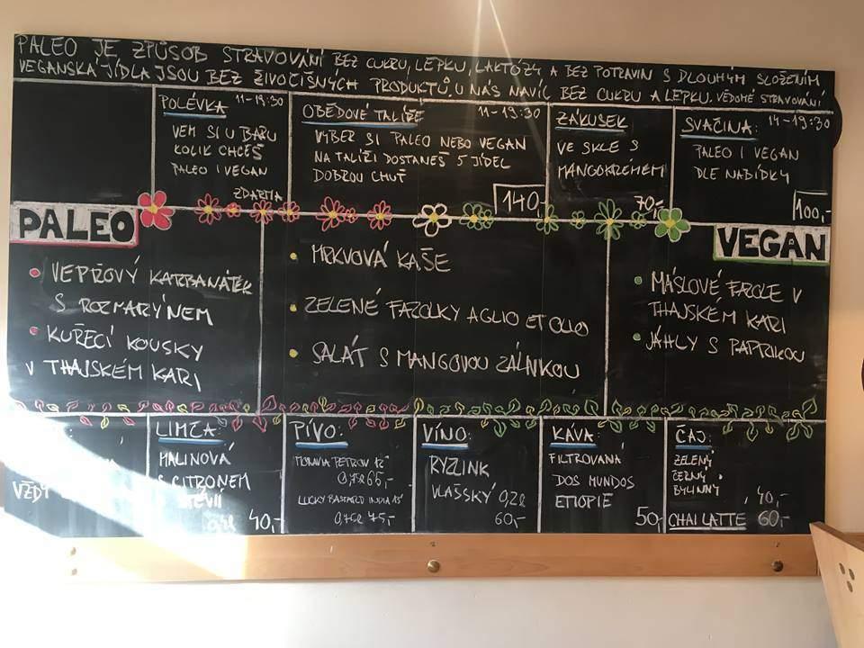 Ukázka nabídky restaurace Má hostina, FOTO: Veronika Sodomová