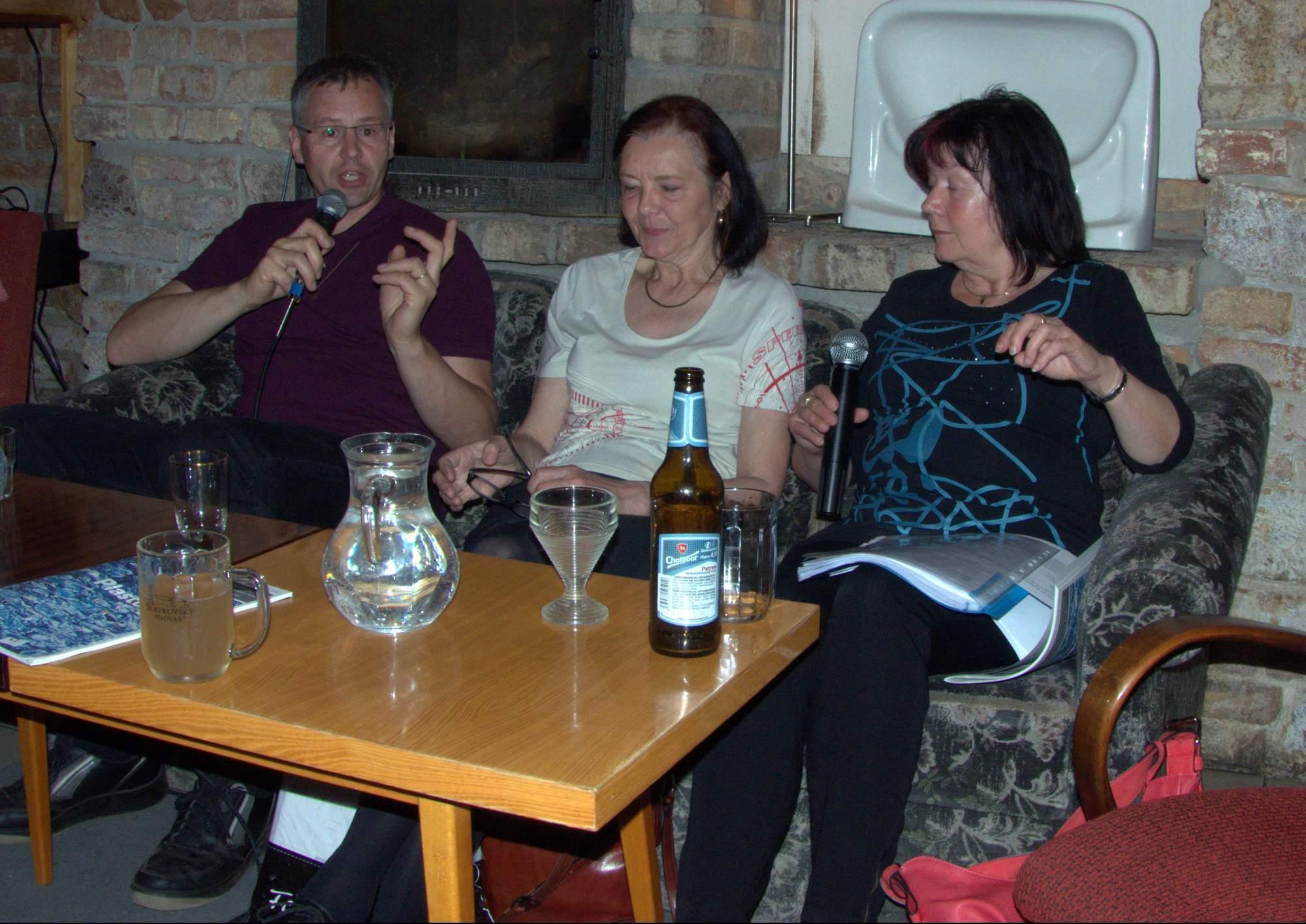 Ivo Kropáček, Milena Studénková a Jana Suzová. Foto: Dominika Glaserová