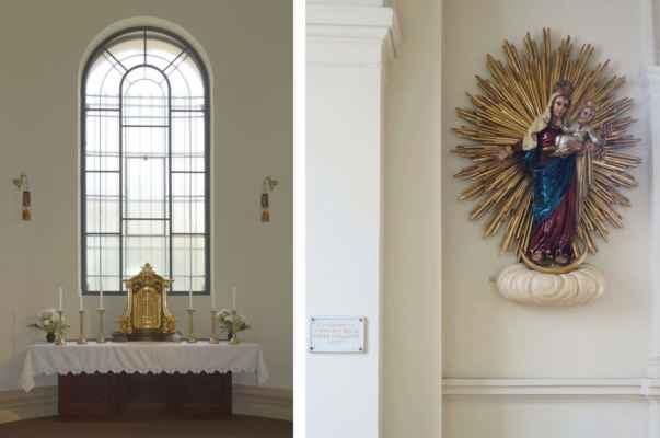 Boční kaple Panny Marie.
