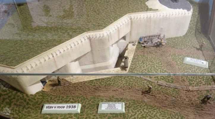 Model bunkru - stav v roce 1938...